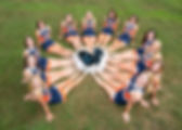 Sporting South Photography Cheerleading Squad Portrait