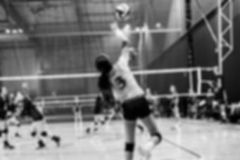 Volleyball player action image sports black and white serving