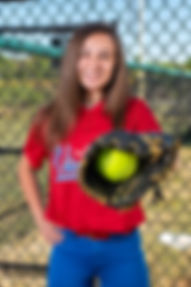 Sporting South Photography Softball Player Portrait