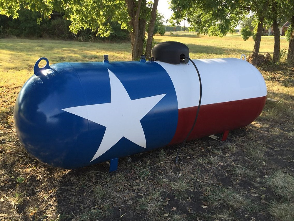 texas painted tank