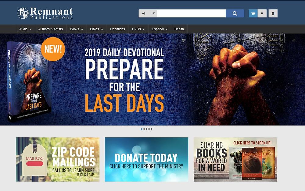 DS&P Remnant Publications Ecommerce Website