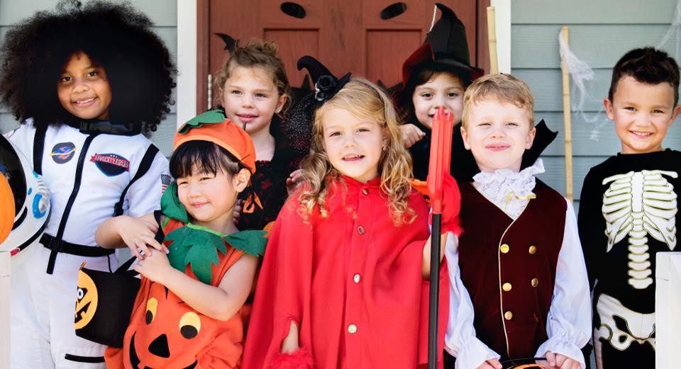 kids dressed in costume