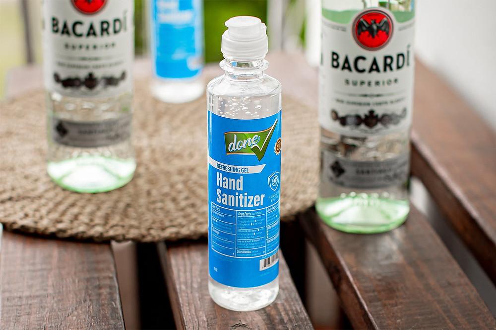 Bacardi hand sanitizer