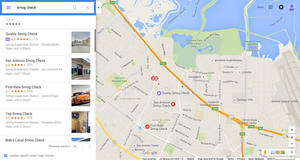 Google Maps ad on desktop