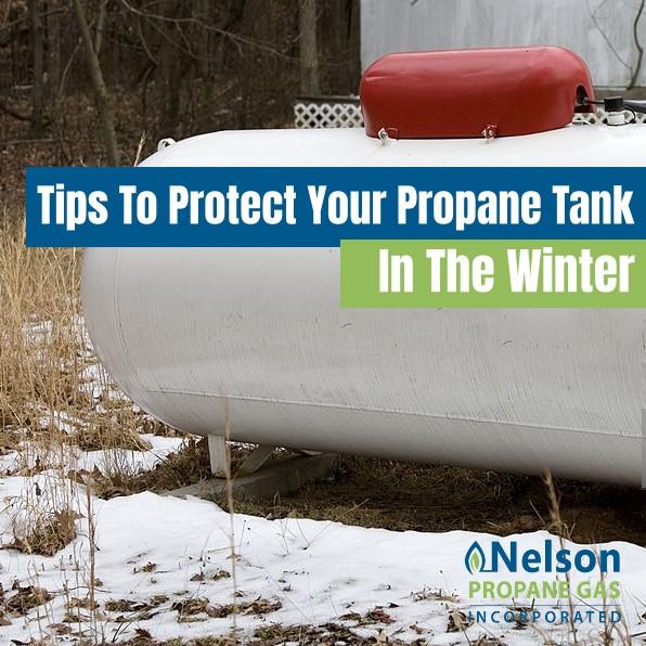 Propane Tank in the winter