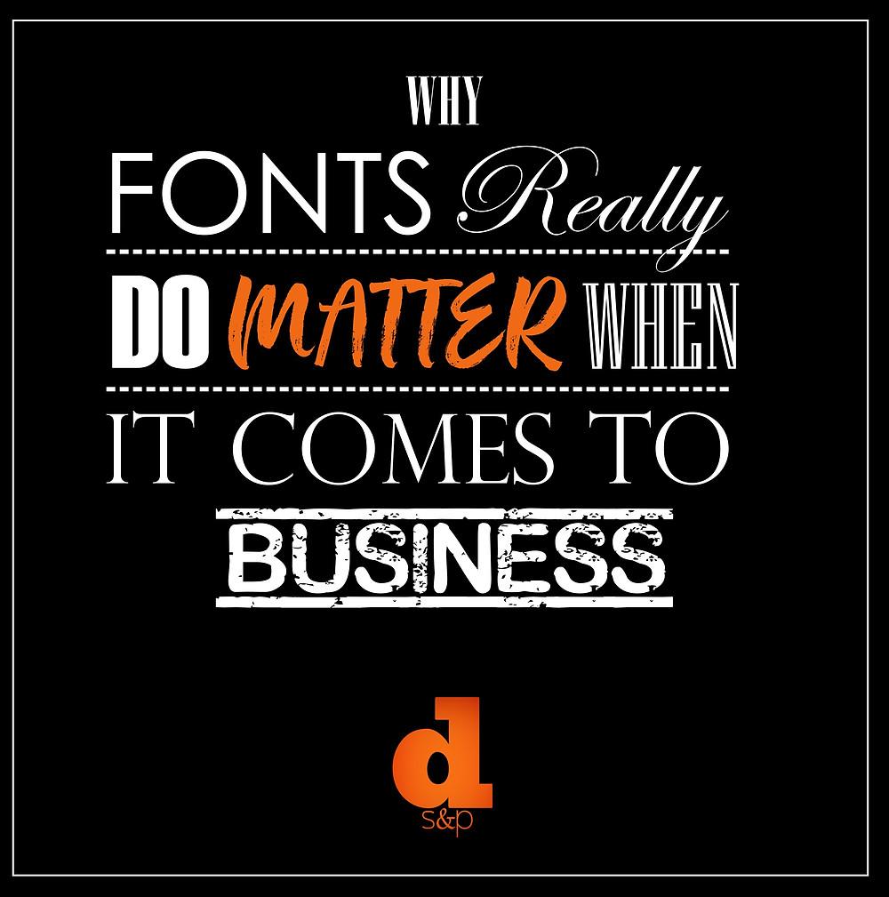 Fonts really do matter