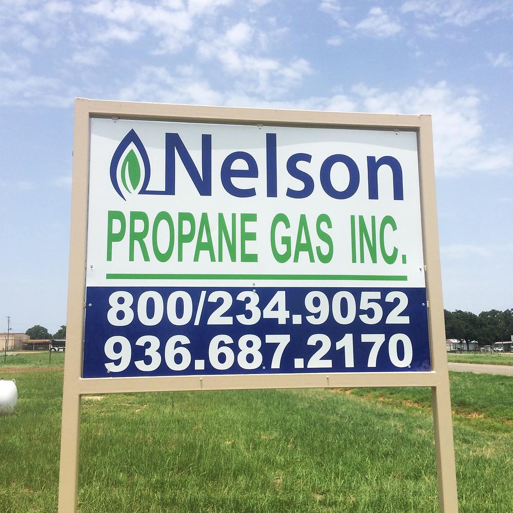 Nelson Propane Sign