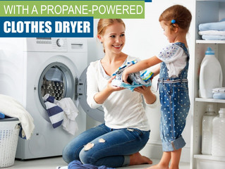 Save Time and Money with a Propane Powered Clothes Dryer