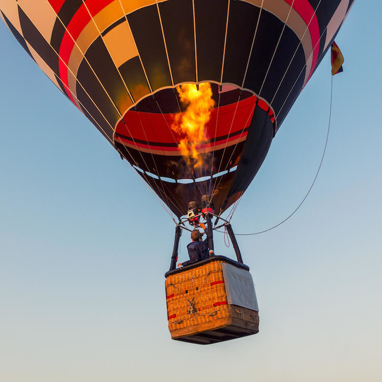 propane flame hot air balloon