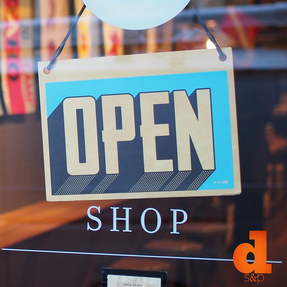 Revitalize Your Small Business - Open Sign
