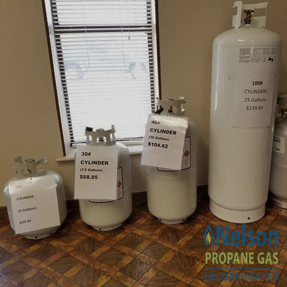 what size propane tank do i need for a fireplace