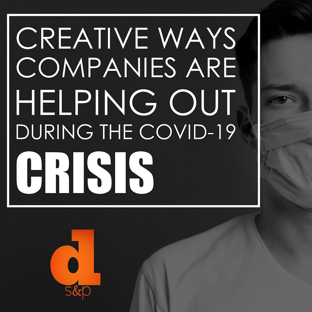Creative ways companies are helping covid-19