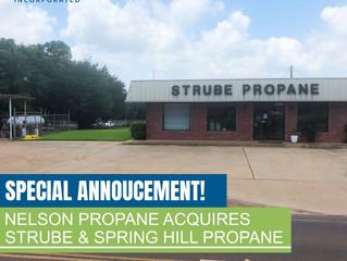 Special Announcement! Nelson Propane Acquires Strube Propane & Spring Hill Propane