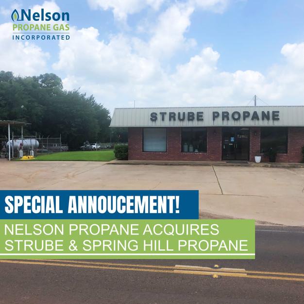 Special Announcement! Nelson Propane Acquires Strube Propane