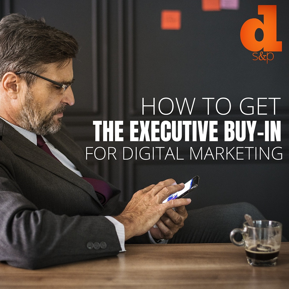 Executive using social media