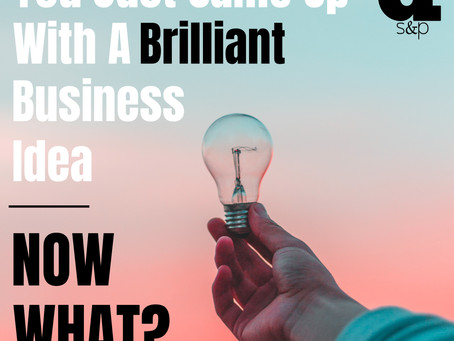 You Just Came Up With A Brilliant Business Idea - Now What?