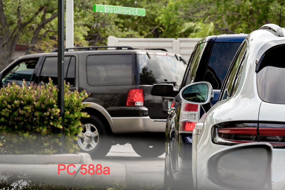 PC 588a: Throw object at vehicle: Law & Defense: PC588a