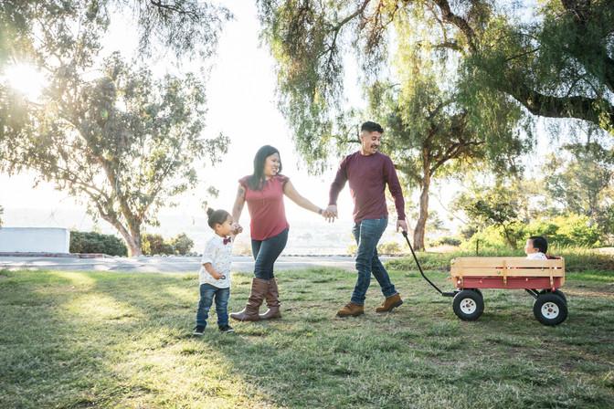 Fall Family Photos in San Diego, California.