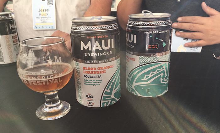 Maui Brewing playing on the Island produced theme.