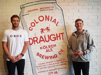 Colonial brews Bombers football beer deal