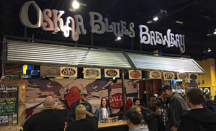Oskar Blues had one of the bigger stands at GABF.