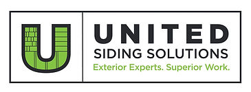 United Siding Solutions Logo White Horz.
