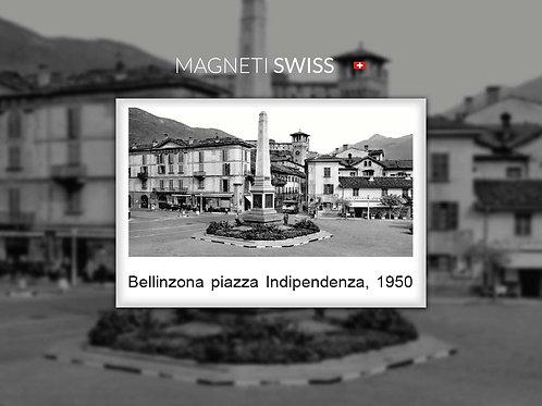 Bellinzona piazza indipendenza, 1950