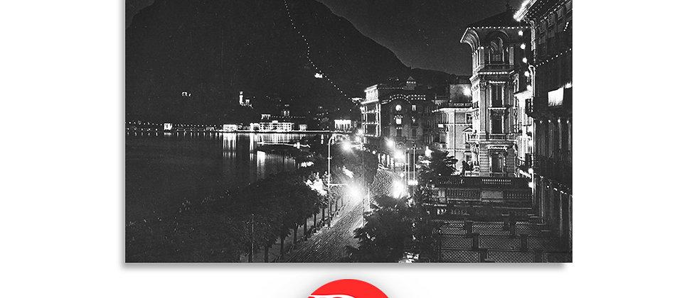 Lugano Paradiso lungolago notturno anno 1940 c.a.
