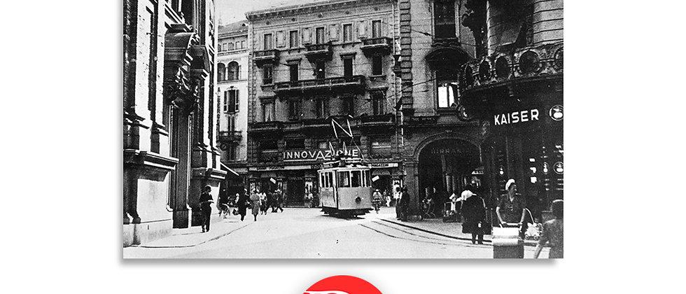 Lugano piazza Dante e Innovazione anno 1925 c.a.