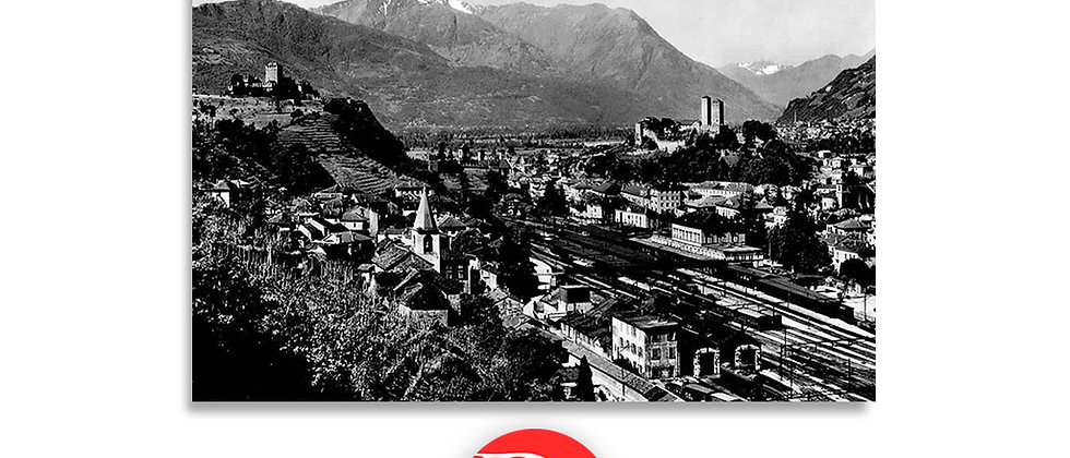 Bellinzona panorama anno 1950 c.a.