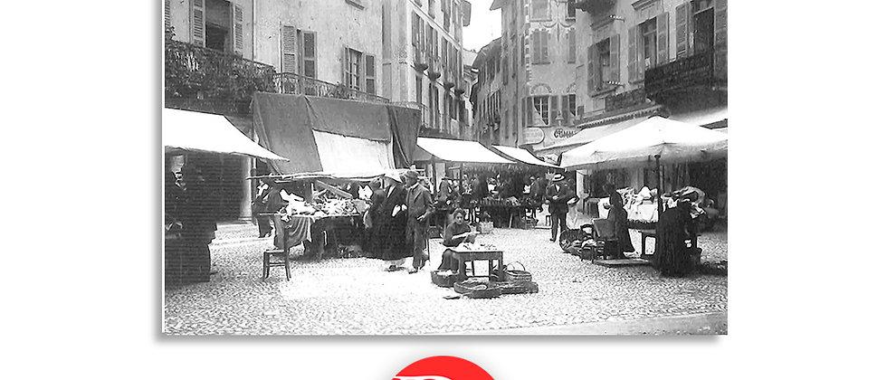 Lugano piazza commercio oggi Maraini anno 1906 c.a.