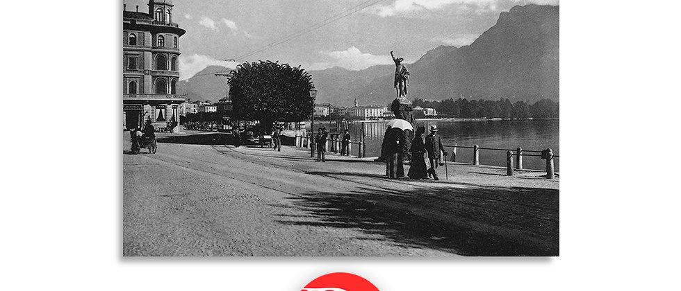 Lugano piazza G.Tell anno 1890 c.a.
