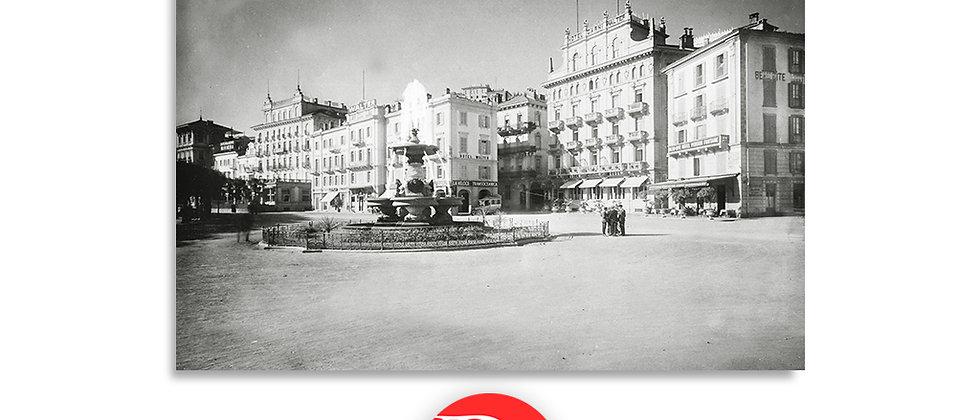 Lugano il Quai e fontana Bossi anno 1920 c.a.