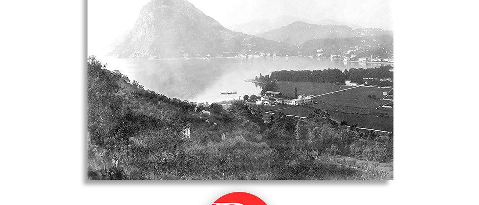 Lugano vista dal monte Brè anno 1875 c.a.