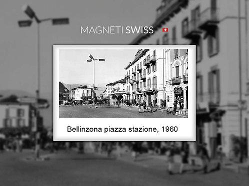 Bellinzona piazza stazione, 1960