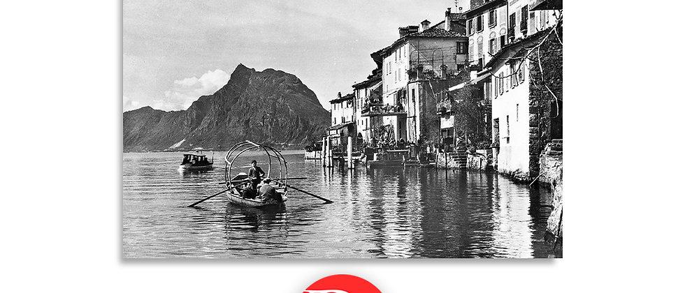 Lago di Lugano, Gandria anno 1940 c.a.