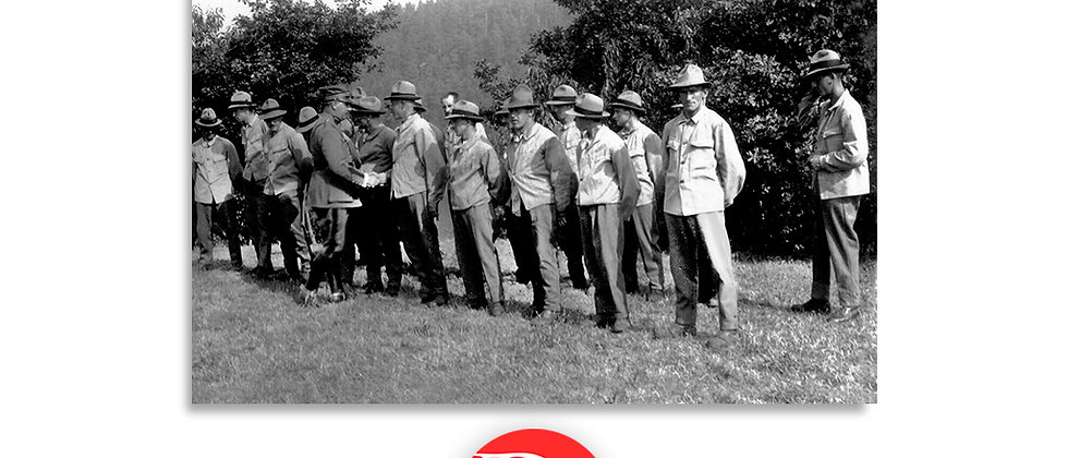 Saluto al comandante anno 1928 c.a.