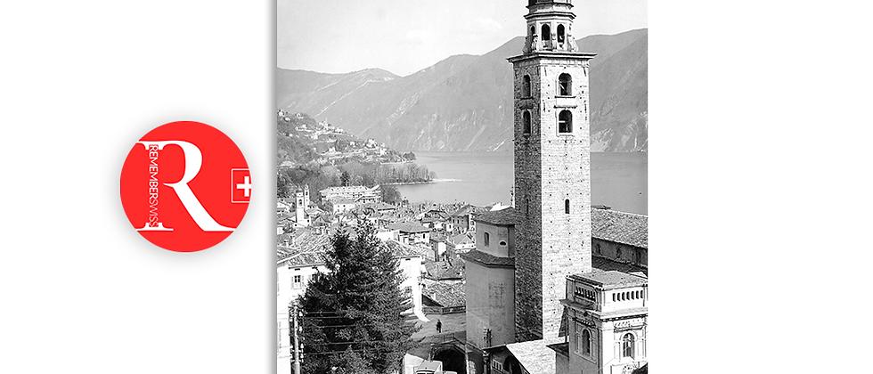 Lugano Cattedrale Funicolare anno 1905 c.a.