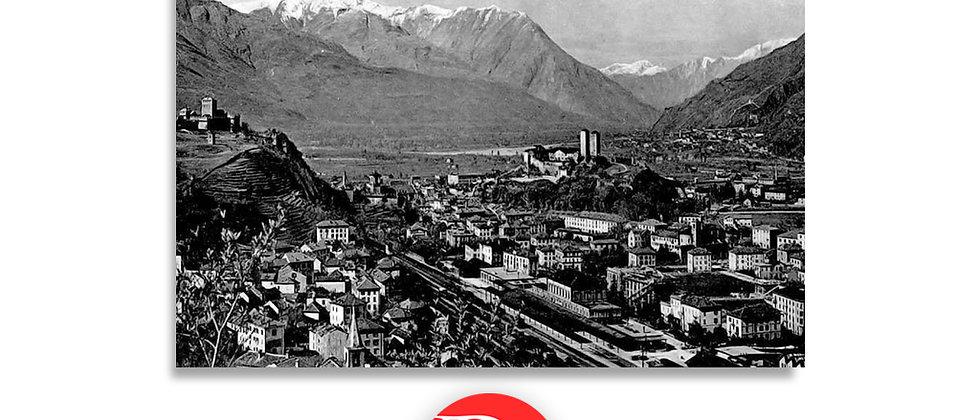 Bellinzona panorama anno 1910 c.a.