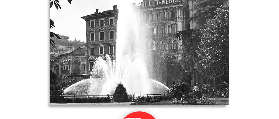 Lugano piazza Manzoni anno 1950 c.a.