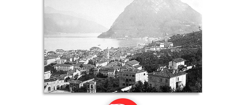 Lugano e monte S.Salvatore anno 1875 c.a.