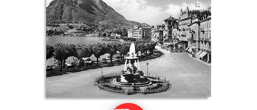 Lugano il Quai e fontana Bossi anno 1940 c.a.