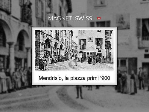 Mendrisio, la piazza primi '900