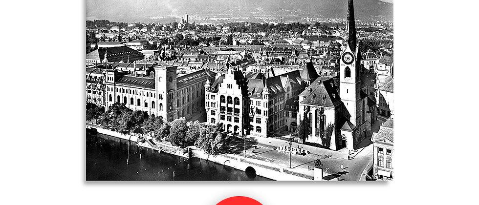 Zurigo panorama anno 1950 c.a.
