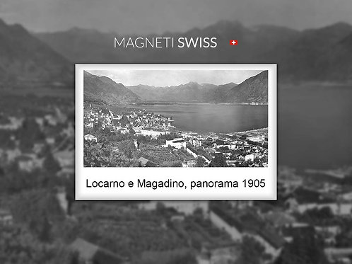 Locarno e Magadino, panorama 1905