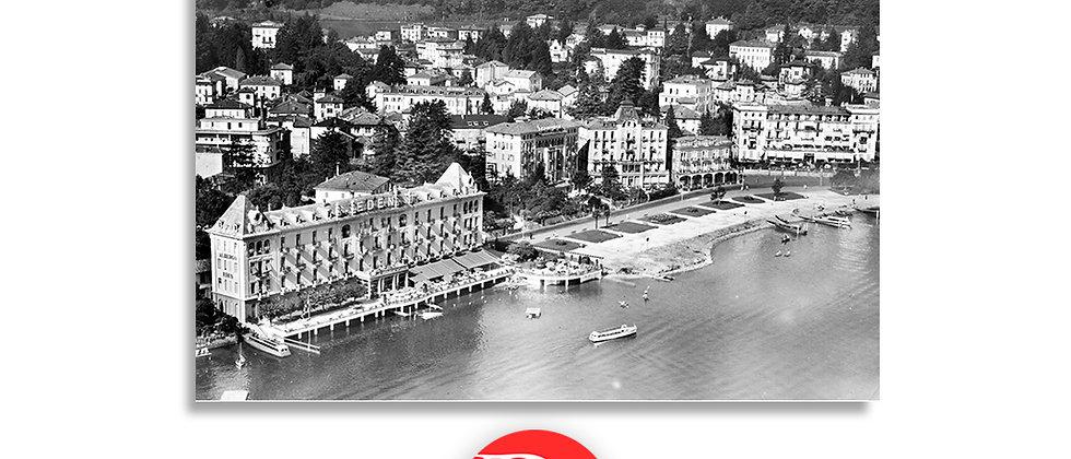 Lugano veduta aerea Hotel Eden anno 1960 c.a.