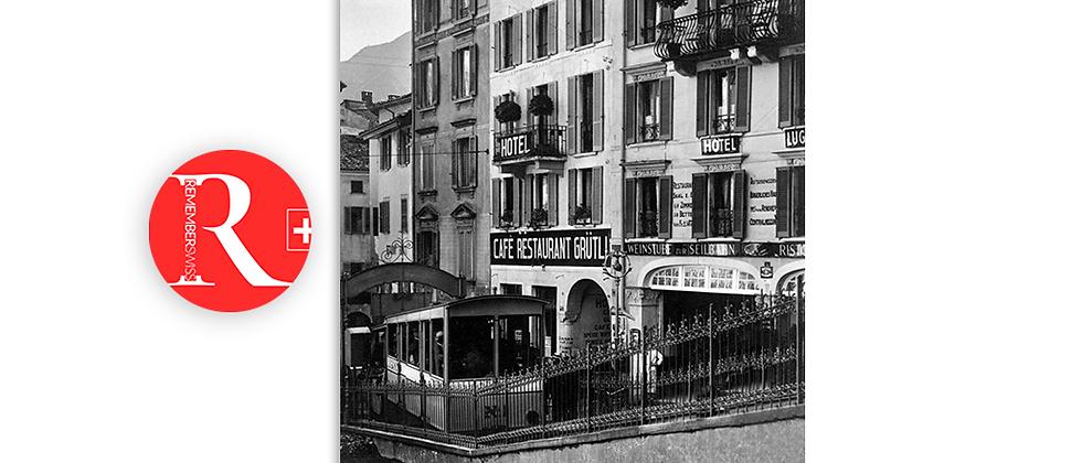 Lugano via Cattedrale anni '40