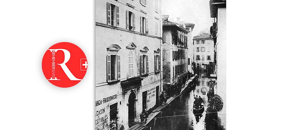 Lugano alluvione fine '800