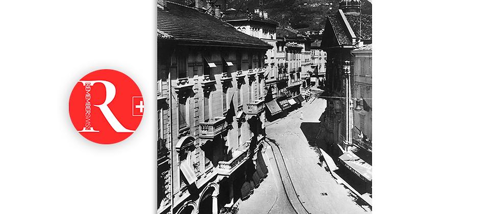 Lugano piazza Dante via Peri anno 1930 c.a.