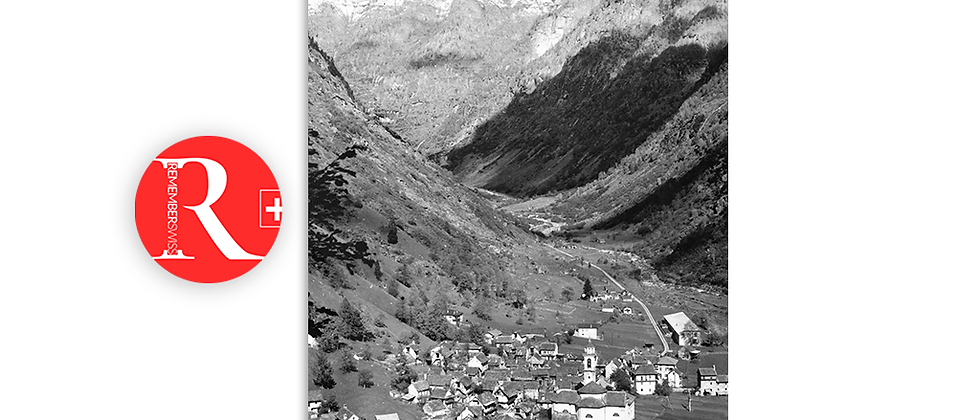 Sonogno, Valle Verzasca anno 1955 c.a.